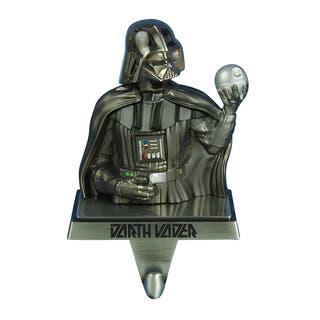 Kurt Adler Star Wars Gun Metal-Plated Darth Vader Stocking Hanger|https://ak1.ostkcdn.com/images/products/10591733/P17665740.jpg?impolicy=medium
