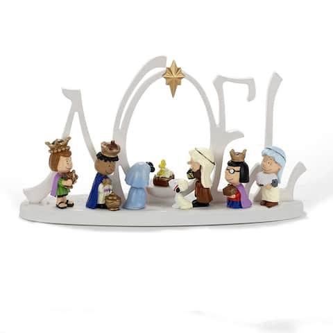 Kurt Adler 10-Inch Battery-Operated LED Peanuts Lighted Nativity Scene