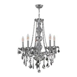 Venetian Italian Style 5-light Smoke Crystal 21 x 26-inch Chandelier Medium