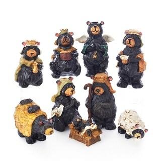 Kurt Adler 4 in. Resin Nativity Bear Set, 9-piece Set
