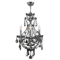 "Maria Theresa Collection 4 Light Chrome Finish and Chrome Crystal Mini Chandelier 16"" x 26"""