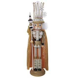 Kurt Adler 28 in. Hollywood with Crown and Gold Cape Nutcracker