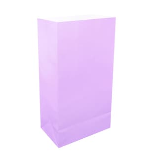 Lavender Paper Luminaria Bags (100 Count)