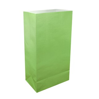 Green Paper Luminaria Bags (100 Count)