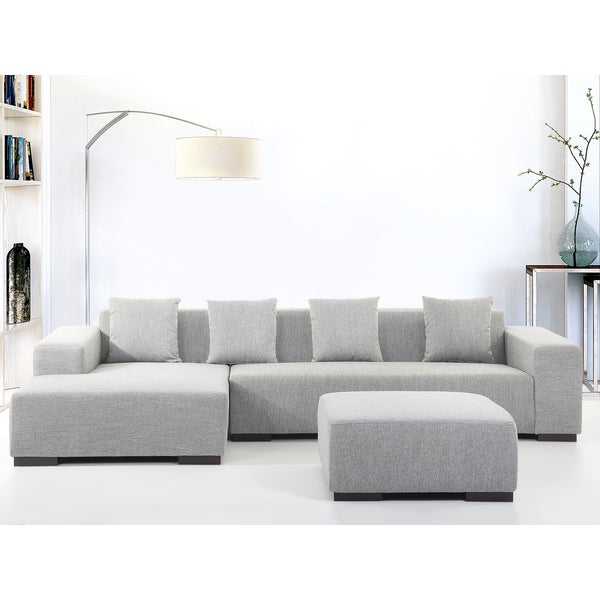 beliani lungo modern fabric sectional sofa free shipping today 17665919. Black Bedroom Furniture Sets. Home Design Ideas