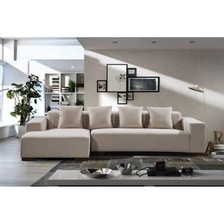 Lungo Modern Fabric Sectional Sofa