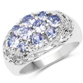 Malaika Sterling Silver 1 4/5ct Tanzanite Ring - Blue