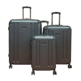 Kenneth Cole 8-Wheelin Pewter 3-piece Hardside Spinner Luggage Set