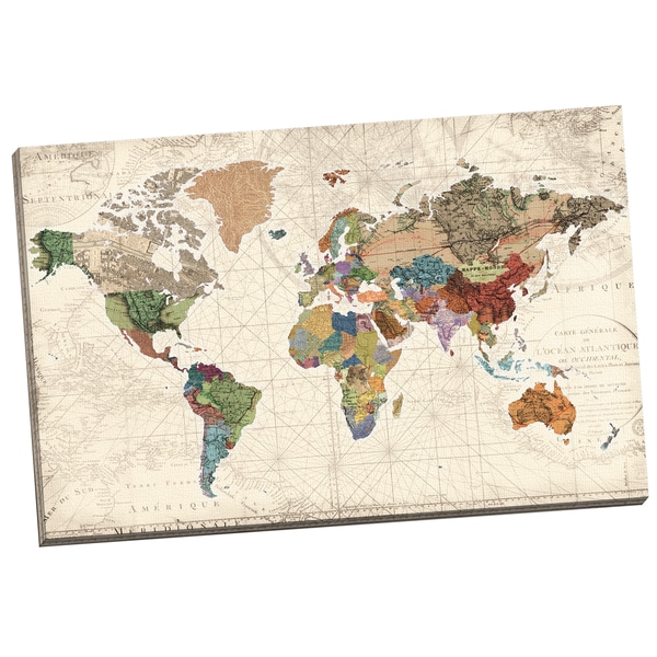 portfolio canvas decor world map of maps by studio
