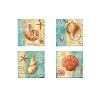 Portfolio Canvas Decor 'Ocean Nautilus' by Geoff Allen Gallery Wrapped Canvas (Set of 4)