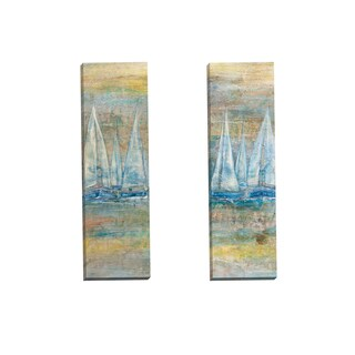 Portfolio Canvas Decor 'Platino I Panel' by Gabriela Villarreal Gallery Wrapped Canvas (Set of 2)