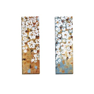 Portfolio Canvas Decor 'Dogwood panel I' by Jolina Anthony Gallery Wrapped Canvas (Set of 2)