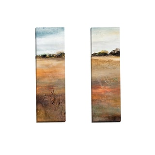 Portfolio Canvas Decor 'A Country Mile Panel I' by Karen Hale Gallery Wrapped Canvas (Set of 2)