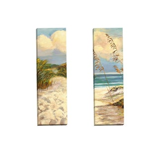 Portfolio Canvas Decor 'Beach Dunes I Panel I' by Sandy Doonan Gallery Wrapped Canvas (Set of 2)