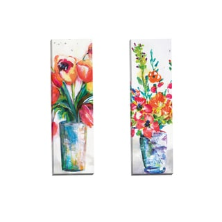 Portfolio Canvas Decor 'Centerpiece Panel I' by Sandy Doonan Gallery Wrapped Canvas (Set of 2)