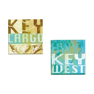 Portfolio Canvas Decor 'Key Largo' by Cory Steffen Gallery Wrapped Canvas (Set of 2)