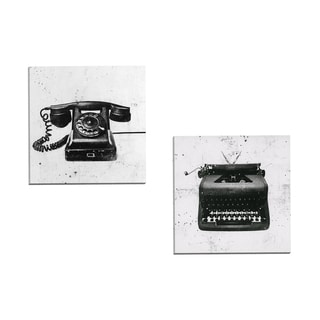 Portfolio Canvas Decor 'Black Phone' by JB Hall Gallery Wrapped Canvas (Set of 2)