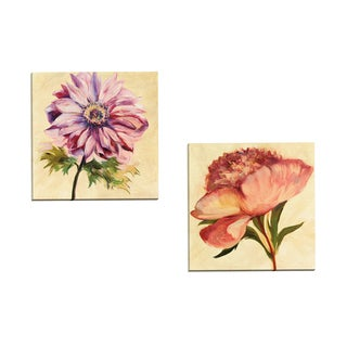 Portfolio Canvas Decor 'Garden Splendor I' by Marysia Gallery Wrapped Canvas (Set of 2)