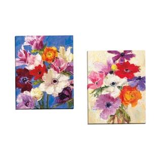Portfolio Canvas Decor 'Petit Fleur 4' by Dale Payson Gallery Wrapped Canvas (Set of 2)