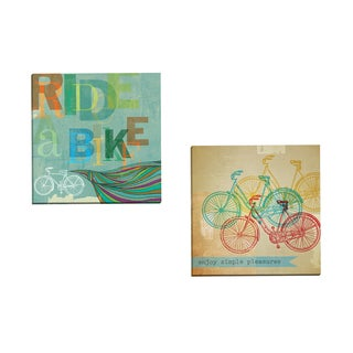 Portfolio Canvas Decor 'Bikes 1' by Stella Bradley Gallery Wrapped Canvas (Set of 2)