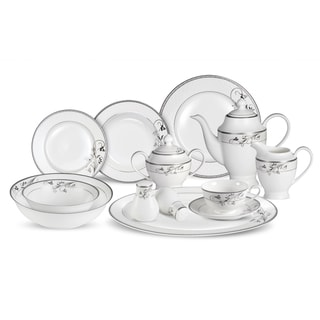 Lorren Home Trends 57-piece Viola Bone China Dinnerware Set (Service for 8)