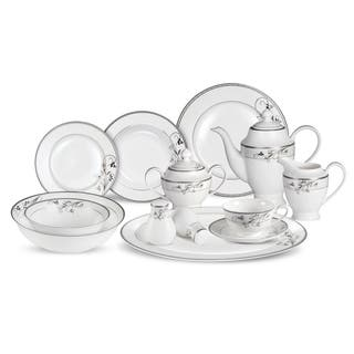Lorren Home Trends 57-piece Viola Bone China Dinnerware Set (Service for 8)|https://ak1.ostkcdn.com/images/products/10592215/P17666092.jpg?impolicy=medium