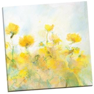 Portfolio Canvas Decor 'Yellow Flowers' by Steve Kuzma Gallery Wrapped Canvas