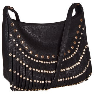Lithyc 'Rome' Fringe Studded Large Cross-body