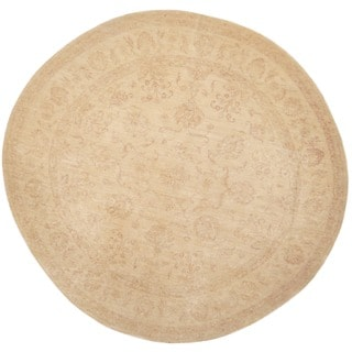 Herat Oriental Afghan Hand-knotted Vegetable Dye Oushak Wool Round Rug (8'9 x 8'9)