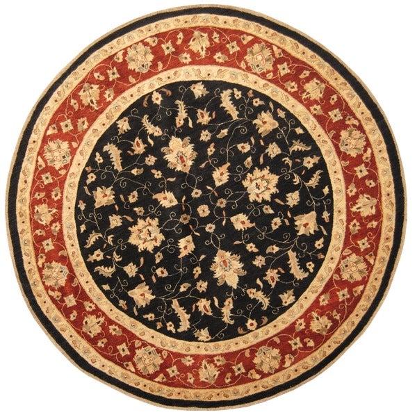 5e90d5eaab4 Handmade Herat Oriental Afghan Vegetable Dye Oushak Wool Round Rug ( Afghanistan) - 9