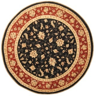 Herat Oriental Afghan Hand-knotted Vegetable Dye Oushak Wool Round Rug (9' x 9')