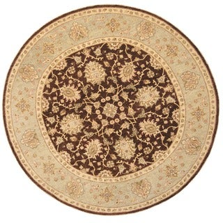 Herat Oriental Afghan Hand-knotted Vegetable Dye Oushak Wool Round Rug (8'1 x 8'1)