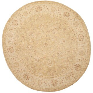 Herat Oriental Afghan Hand-knotted Vegetable Dye Oushak Wool Round Rug (8' x 8') - 8' x 8'