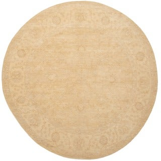 Herat Oriental Afghan Hand-knotted Vegetable Dye Oushak Wool Round Rug (8' x 8')