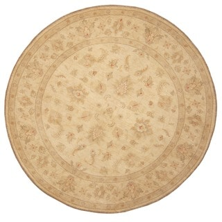 Herat Oriental Afghan Hand-knotted Vegetable Dye Oushak Wool Round Rug (8'4 x 8'4)