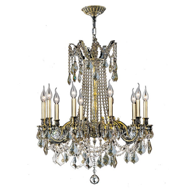 Shop italian elegance collection 10 light antique bronze finish italian elegance collection 10 light antique bronze finish crystal cast brass ornate chandelier 28 x aloadofball Image collections