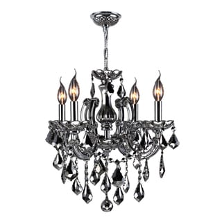 "Maria Theresa Collection 4 light Chrome Finish with Chrome Crystal Chandelier 18"" x 18"""