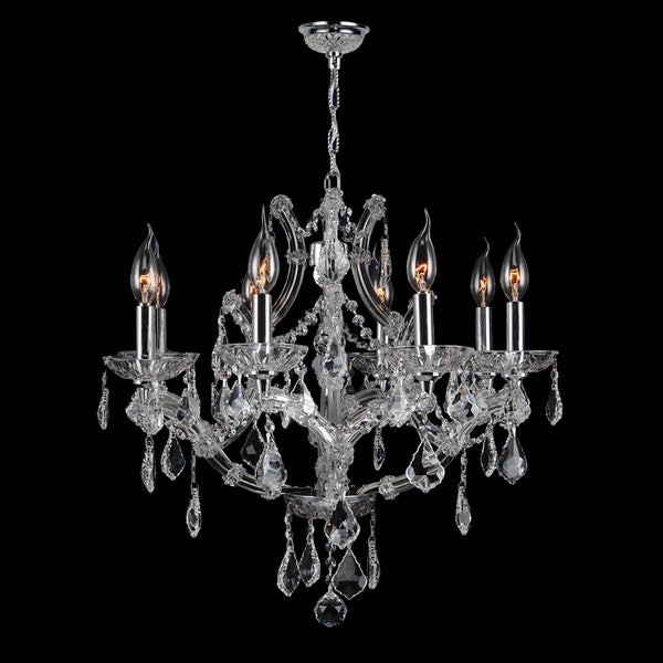Maria Theresa Collection 8-light Chrome Finish and Clear Crystal 26 x 22-inch Chandelier