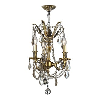 "Italian Elegance Collection 3 light Antique Bronze Finish and Crystal Cast Brass Ornate Chandelier 13"" x 18"""