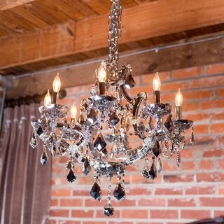 """Maria Theresa Collection 8 light Chrome Crystal Chandelier 26"""" x 22"""" Large"""