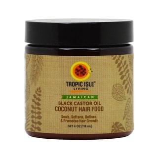Tropic Isle Living Coconut Jamaican Black Castor 4-ounce Oil Hair Food