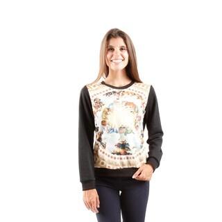 Hadari Women's Printed Pull Over Sweater