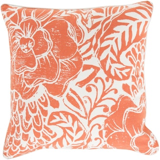 Poly or Feather Down Filled Daniel Floral 22-inch Pillow