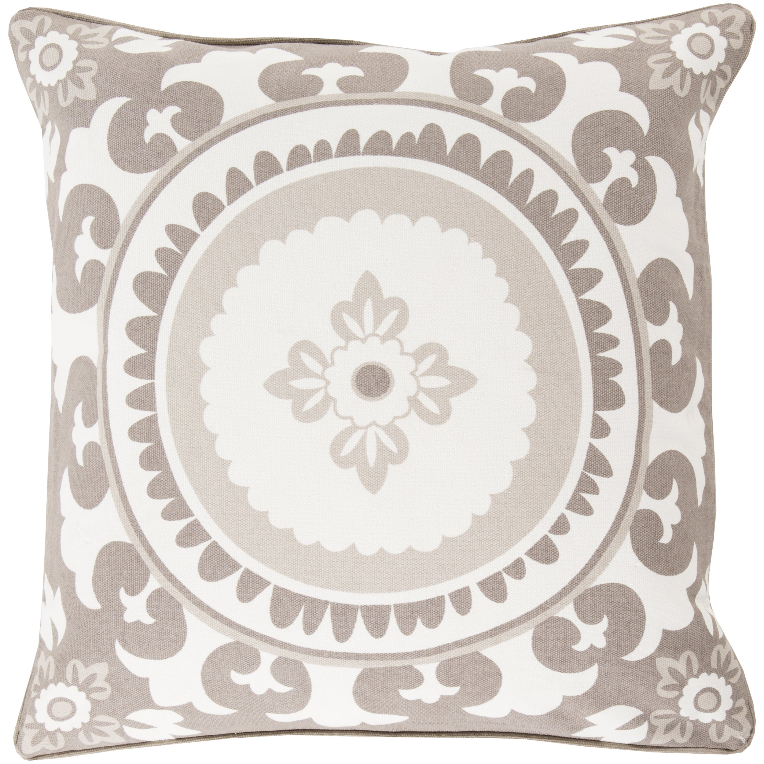 Decorative Carmen Floral Feather Down or Polyester Filled 22-inch Pillow (Polyester)