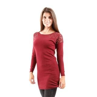 Hadari Women's Long Sleeve Sheath Sweater
