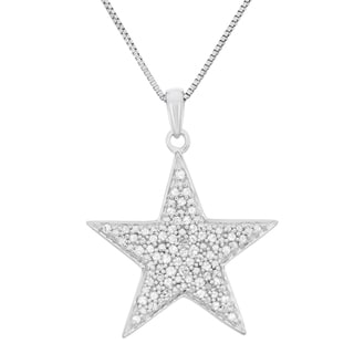 Sterling Silver 1/2ct TDW Diamond Star Pendant