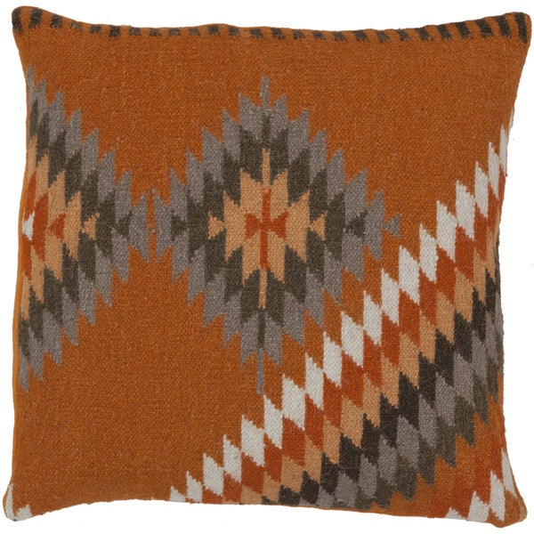 Decorative Shania Kilim Feather Down or Polyester Filled PIllow 18-inch. Opens flyout.