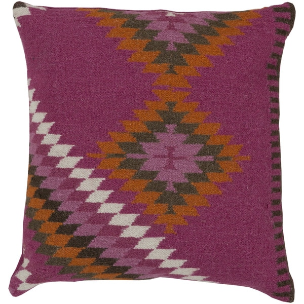 Decorative Shania Kilim Feather Down or Polyester Filled PIllow 22-inch