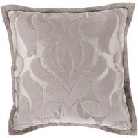 Decorative Goldie Damask Feather/ Down or Polyester Filled 18-inch Pillow
