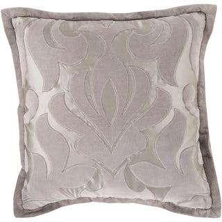 Decorative Goldie Damask Feather/ Down or Polyester Filled 18-inch Pillow (2 options available)